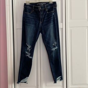 AE dark ripped jeans